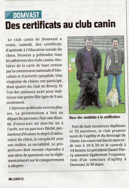 Article du Courrier Picaed sur le CAESC du 25 01 14