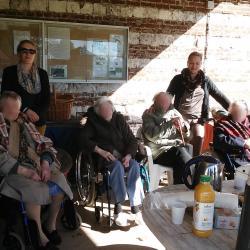 Visite des résidents de DOMART en PONTHIEU
