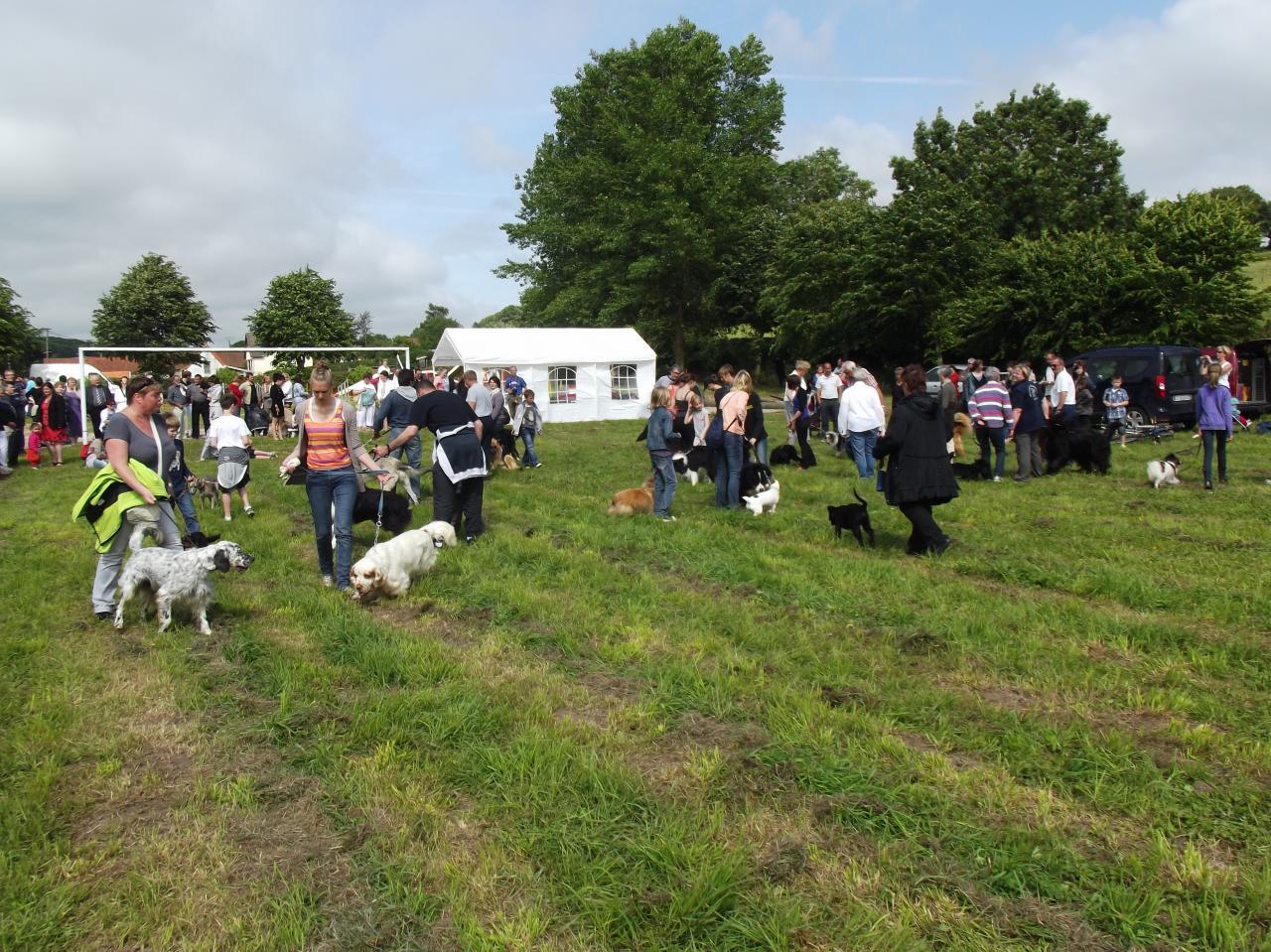 Les adhérents en démonstration canine à Canchy