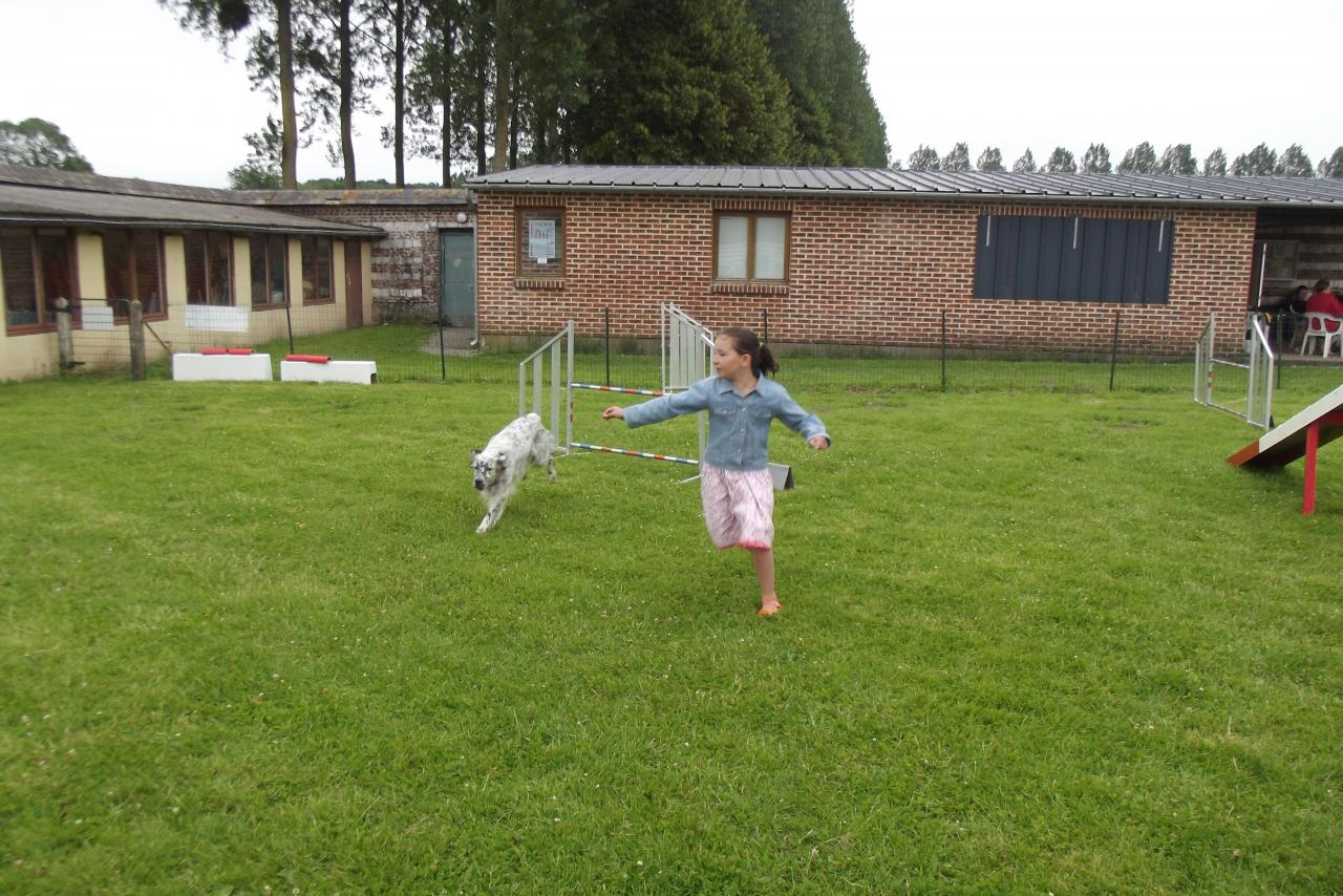 Le saut de Coocky avec Romane